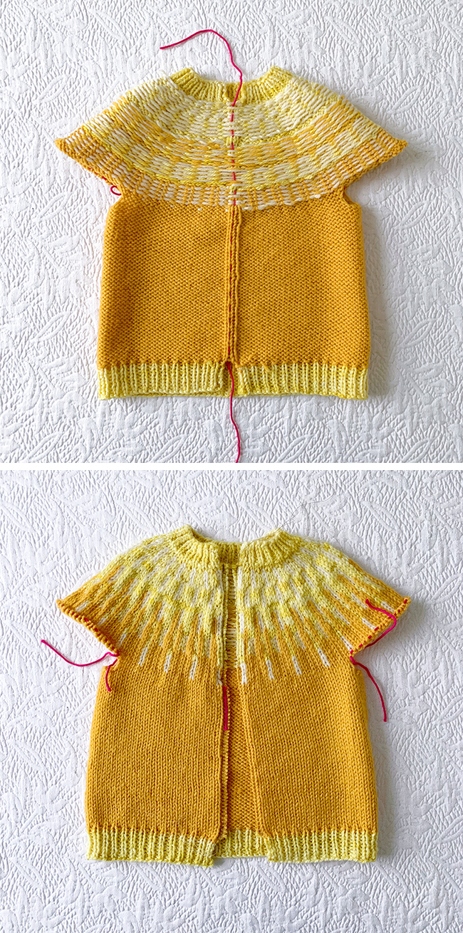 How to knit a miniature (Sólbein) cardigan