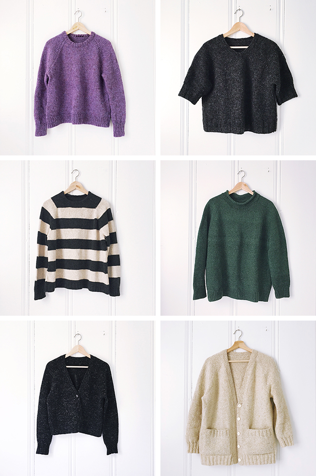 Free recipes for top-down sweaters
