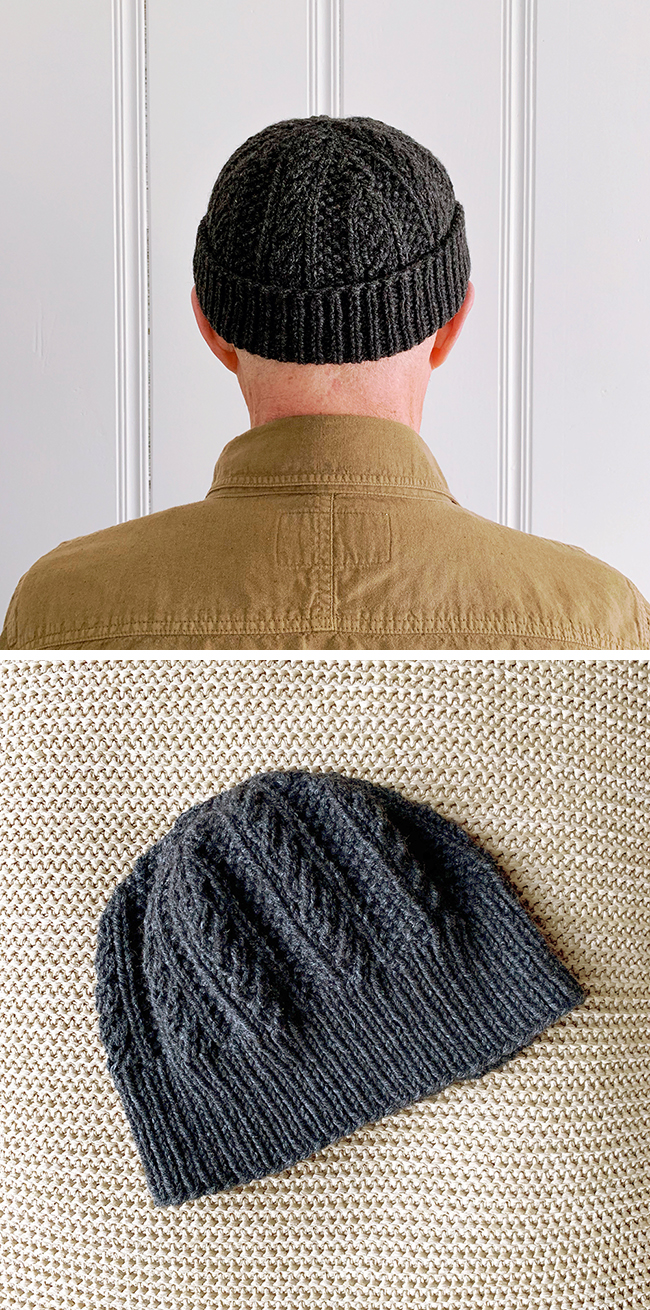 Cabled Dad Hat free knitting pattern by Alexis Winslow