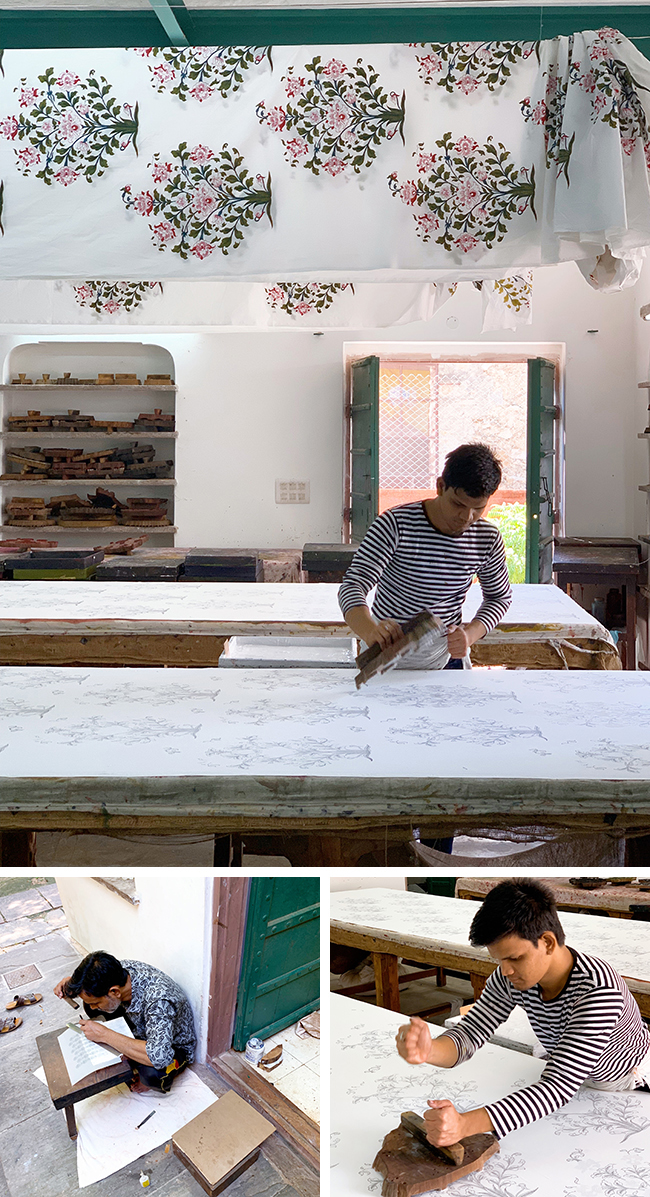 Wood block printing at the studio of Brigitte Singh