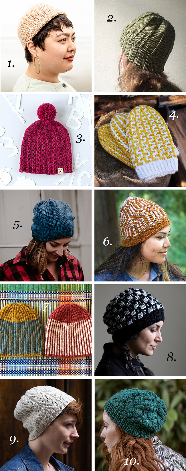 Holiday hat knitting cheat sheet: 10 skill-stretching patterns