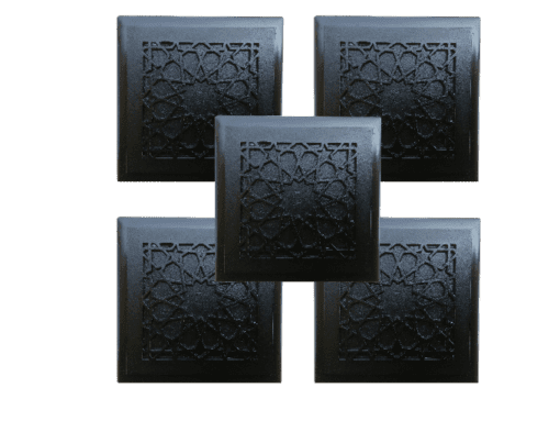 5 black shungite orgonite tiles