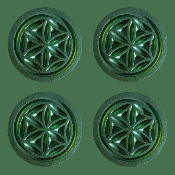 Set of 4 Garden Pucks