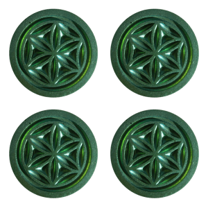Set of 4 Garden Pucks
