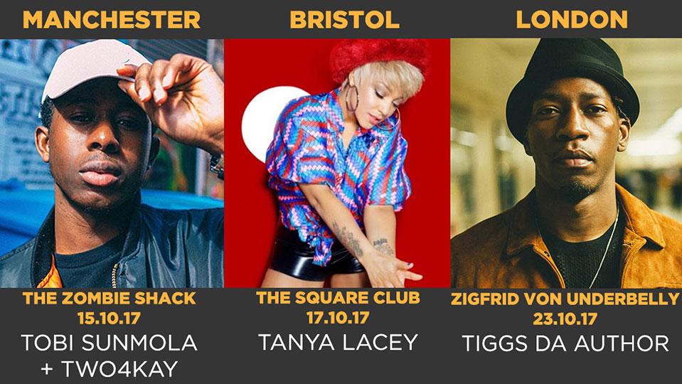 MOBO UnSung tour enlists Tiggs Da Author, Tanya Lacey and Tobi Sunmola