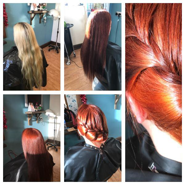 Red Hair Cut & Colour by Fringe Hair Salon Newquay