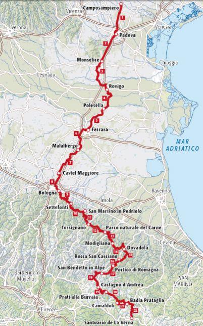 Cammino di Sant'Antonio - Terre di Mezzo