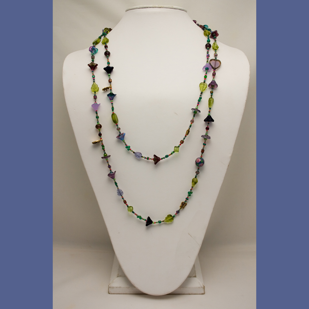 Abloom In Plum Necklace