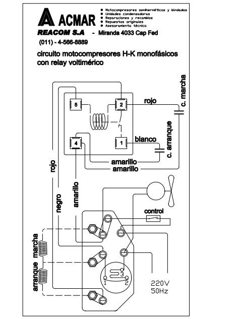 Como conectar lor bornes del Motocompresor acmar de 1/3 HP