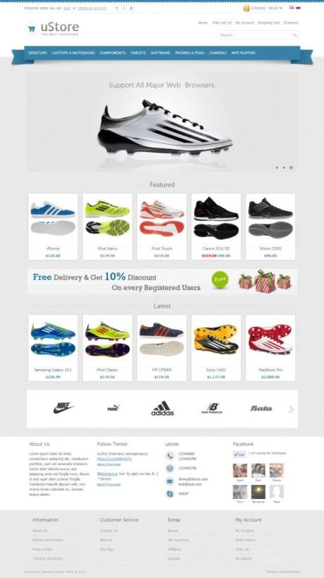 uStore Premium Opencart Theme