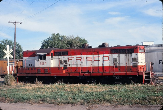 GP7 594 at Ellsworth, Kansas in October 1978 (John Lytle)