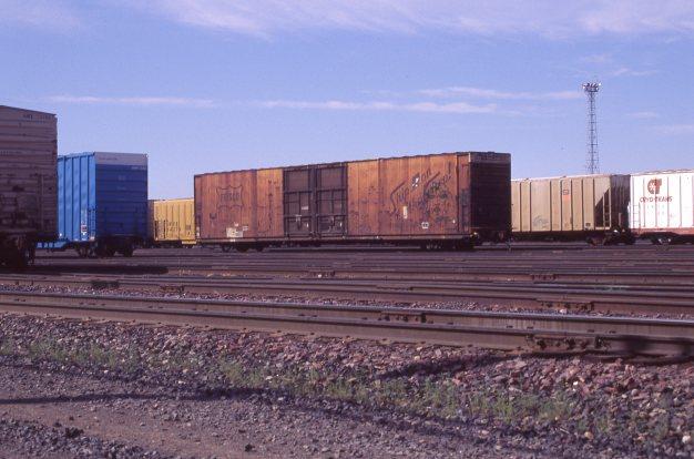85' Boxcar 9108 at Pasco, Washington on July 22, 1996 (R.R. Taylor)