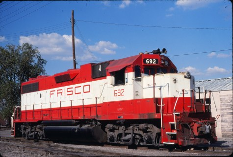 GP38-2 692 at Fort Worth, Texas on September 7, 1980