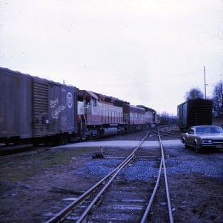 SD45 938 at Cape Girardeau, Missouri in 1970 (Ken McElreath)