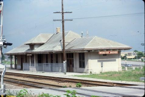 Webster Groves, Missouri Depot in June 1981 (Ken McElreath)