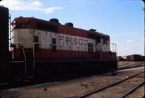 GP7 510 at Enid, Oklahoma in August 1973