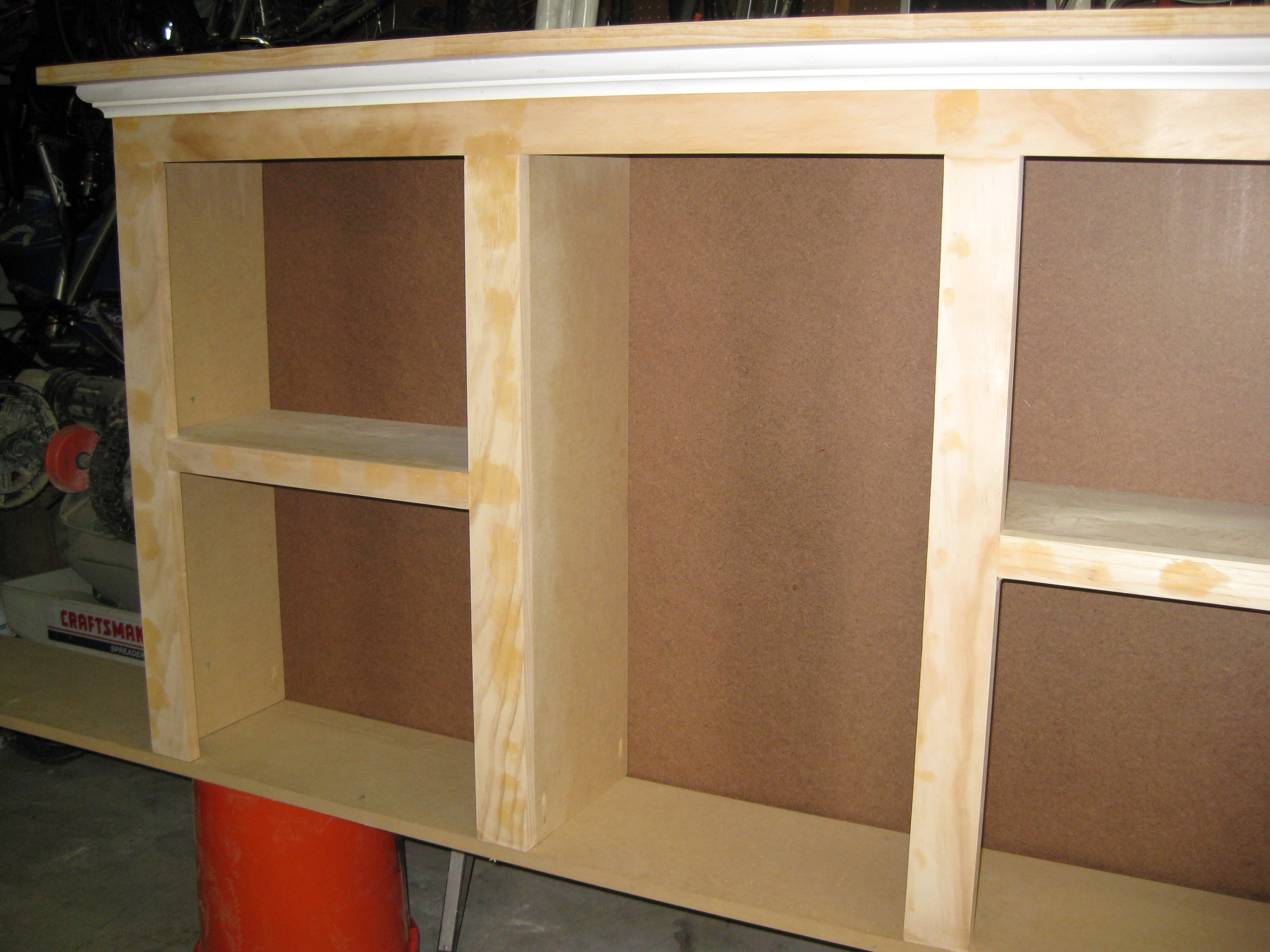 How To Build A King Size Bookcase Headboard Wood Furniture