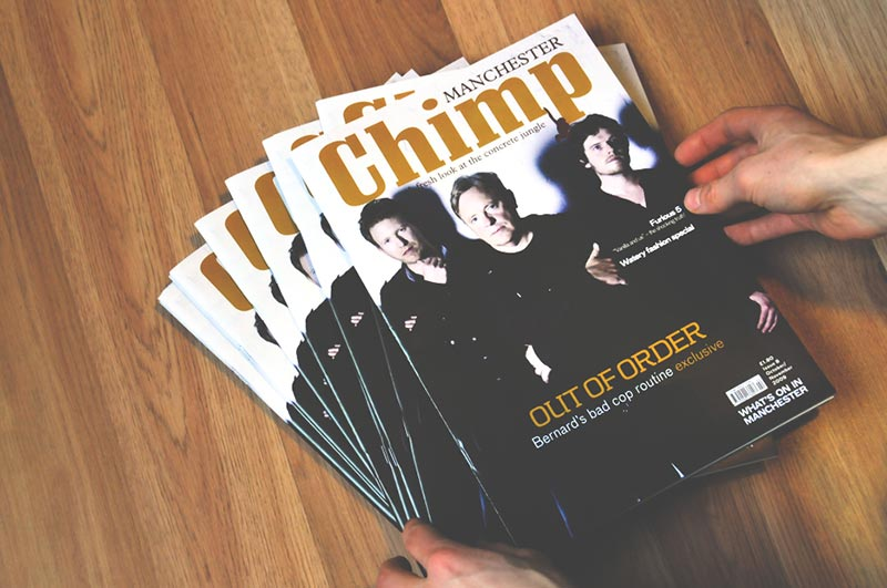 Magazine layout design, branding and editorial design in Manchester.