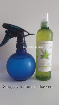Spray hydratant a l aloe vera