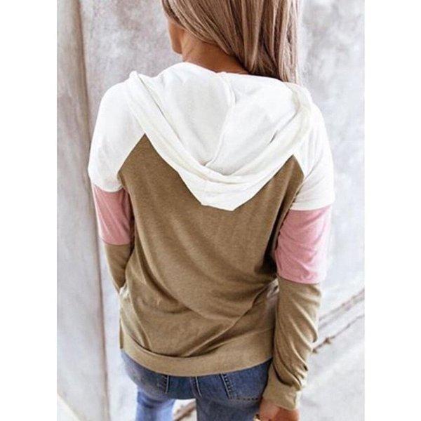 Women Hoodies Harajuku Casual Loose Long Sleeve Hooded 2020 Autumn Vintage Patchwork Sweatshirts Female Elegant Pullover Top 5XL 6