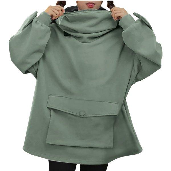 Oversized Hoodie Women Streetwear Casual Frog Printed Sweatshirt Women Winter Clothes Pullovers Tops Ropa De Mujer 2020 1