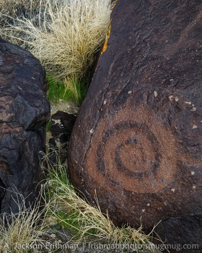 Spiral petroglyph, Grimes Point, Nevada