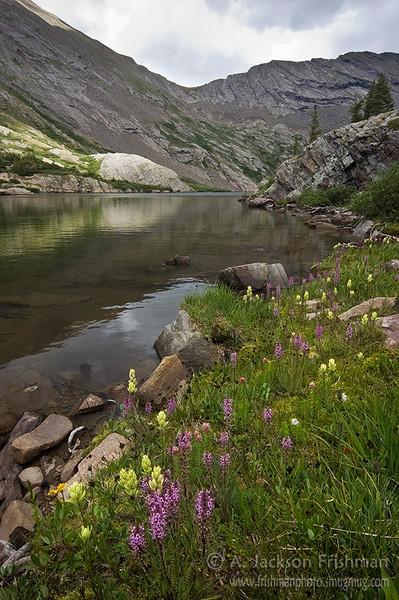 North Crestone Lake, Sangre de Cristo Wilderness, Colorado, August 2010.
