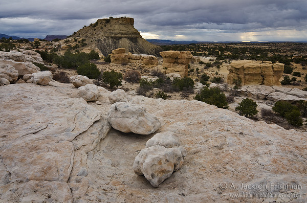 Cloudy morning in New Mexico's Ojito Wilderness
