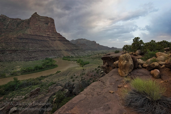 Evening storm clouds above Desolation Canyon and the Green River, Utah