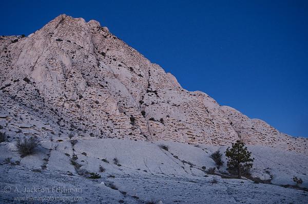 First glow of dawn on Crystal Peak