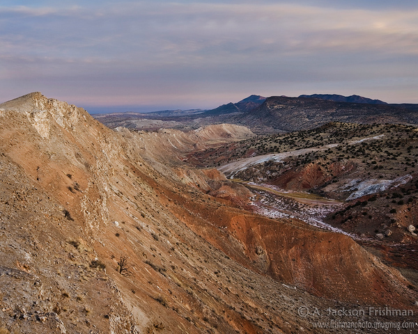 Early morning at White Mesa, Sandoval County, New Mexico