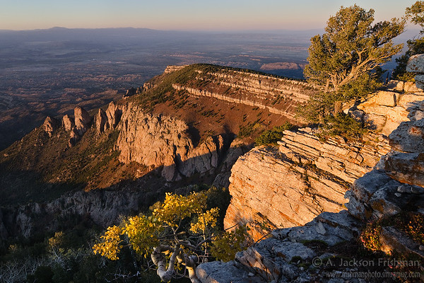 Autumn evening on North Sandia Peak, Sandia Mountain Wilderness, New Mexico
