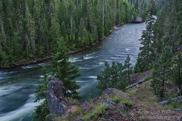 Evening on the Selway River, Selway-Bitterroot Wilderness, Idaho