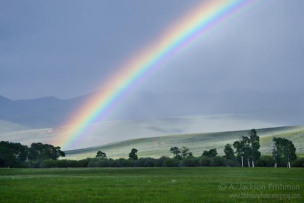 Rainbow over the Continental Divide, Bannock Pass, Idaho-Montana border