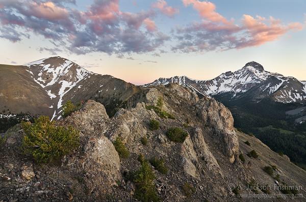 Evening clouds above Bell Mountain Canyon, Lemhi Range, Idaho