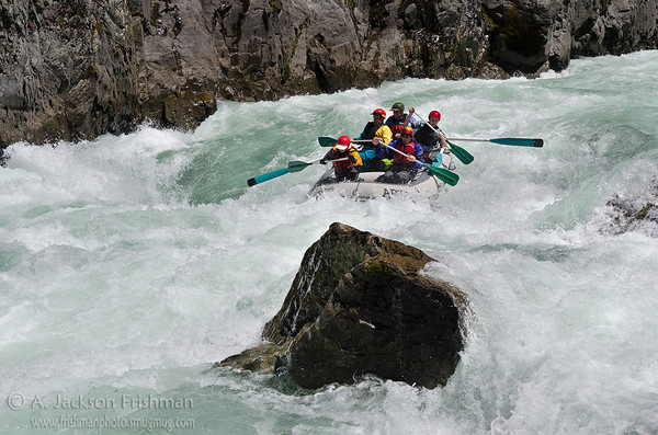 In the gut of Greenwall Rapid, Illinois River, Oregon