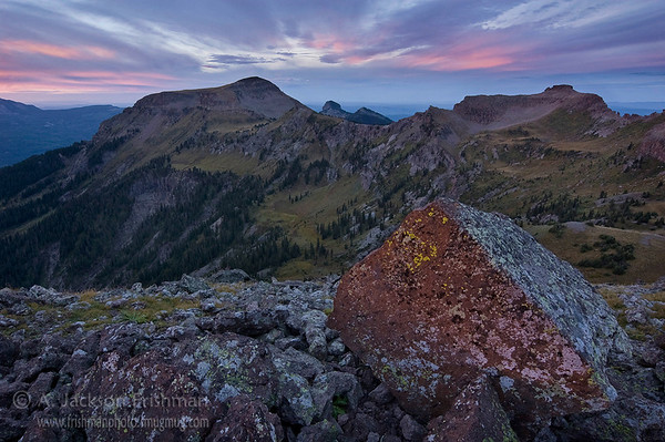 Dawn above the Little Blanco Trail in Colorado's South San Juan Wilderness.