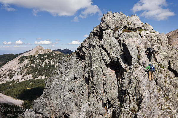 Scrambling in the Truchas Peaks, Pecos Wilderness, New Mexico