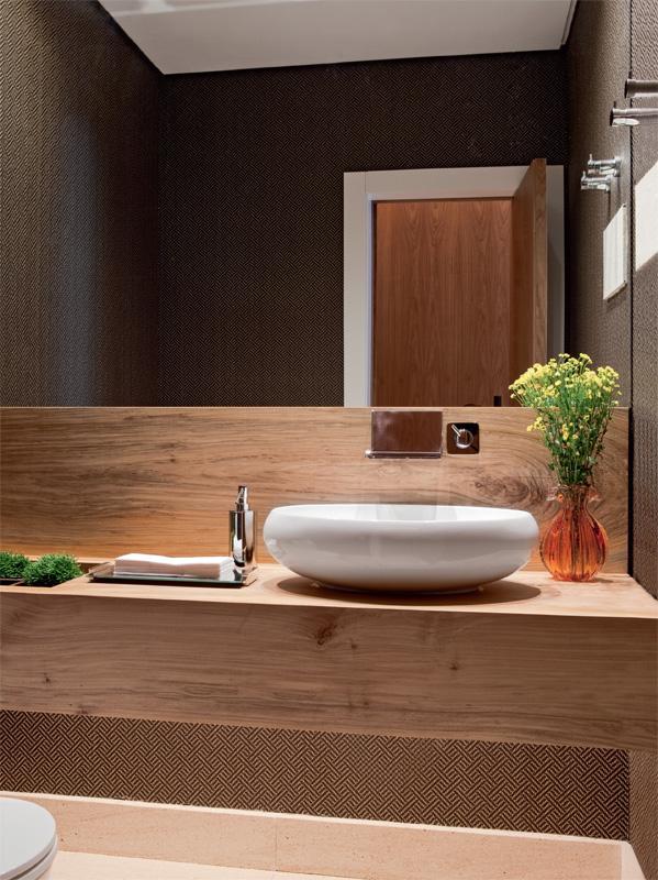 Friso arquitetura e interiores banheiro papel de parede - Friso de papel ...
