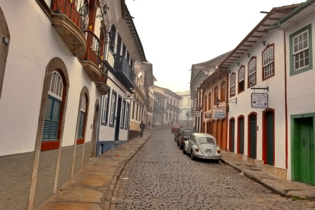 Cidade de Ouro Preto, em Minas Gerais, Brasil
