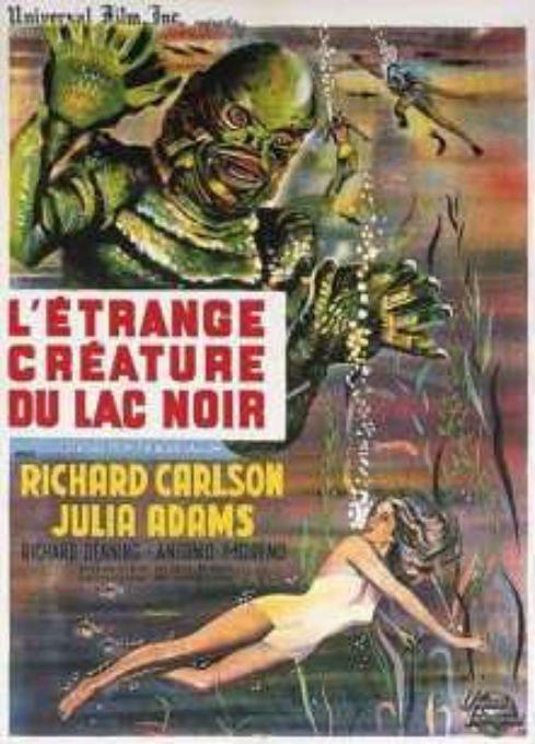 La Créature Du Lagon Noir : créature, lagon, L'ÉTRANGE, CRÉATURE, Frissonstv