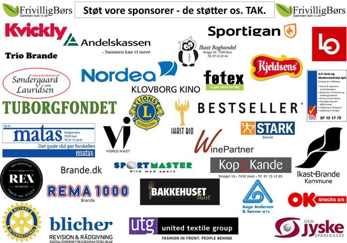 Sponsorer samlet 2015