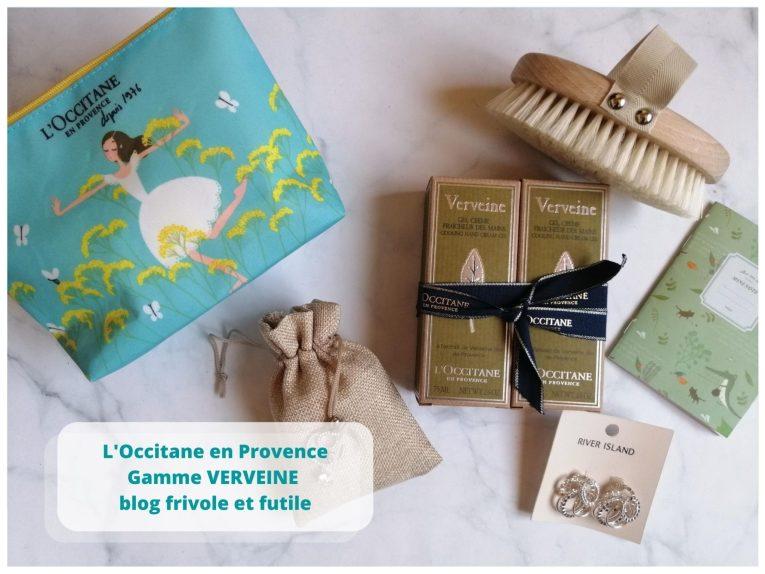L'occitane en provence gamme verveine blog frivole et futile