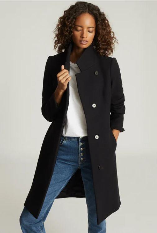 manteau Marcie couleur navy de la marque Reiss