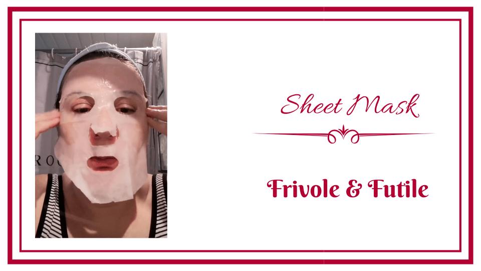 frivole et futile sheet mask