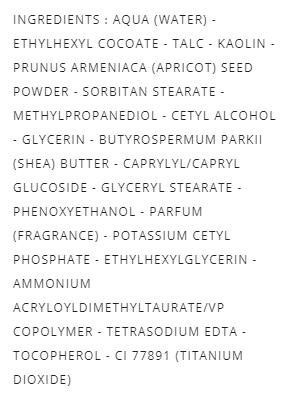 liste des ingrédient gommage visage dr pierre ricaud peeling à l'argile clay facial peeling