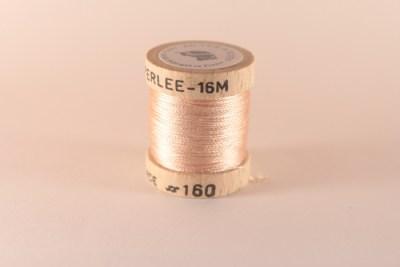Fil de soie perlée rose poudré 160