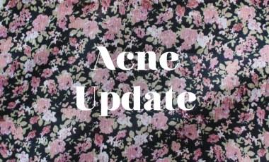 Acne Scars Progress Update