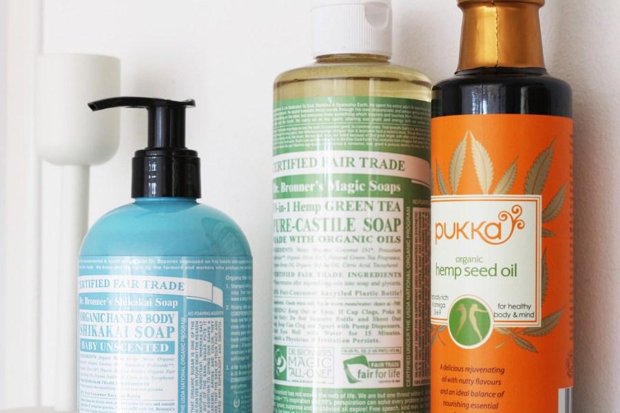 Dr. Bronner's Soap & Pukka Hemp Seed Oil