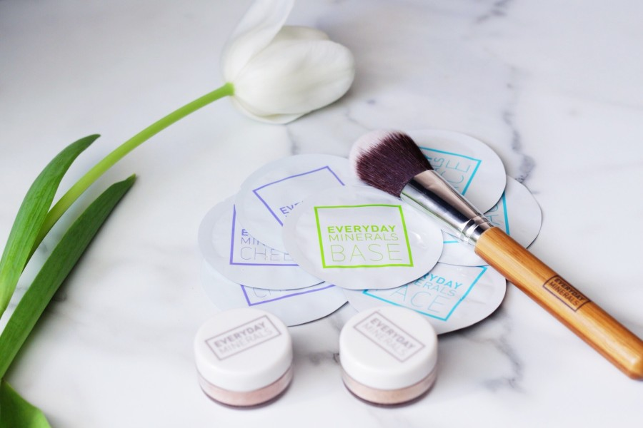 Everyday Minerals samples Dome blush brush eyeshadows